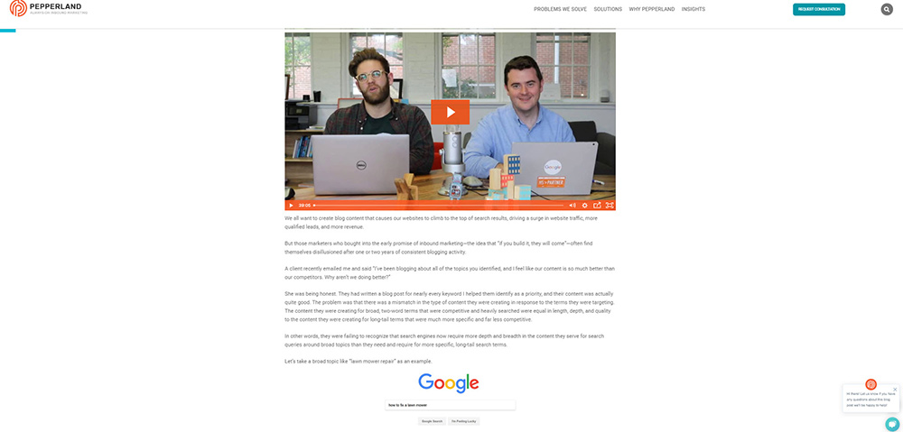 Example of Modern Blog Post