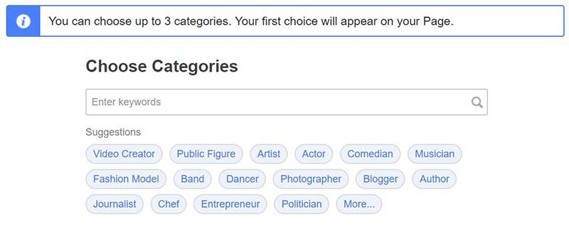 Facebook-Business-Page-Category