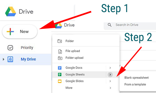 google spreadsheet creation step by step