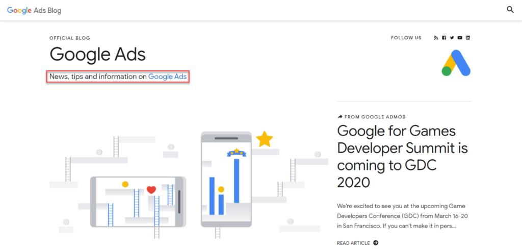 GoogleAds Blog Mission Statement