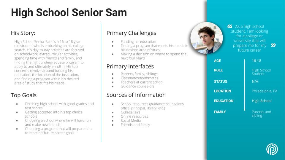 High School Senior Sam