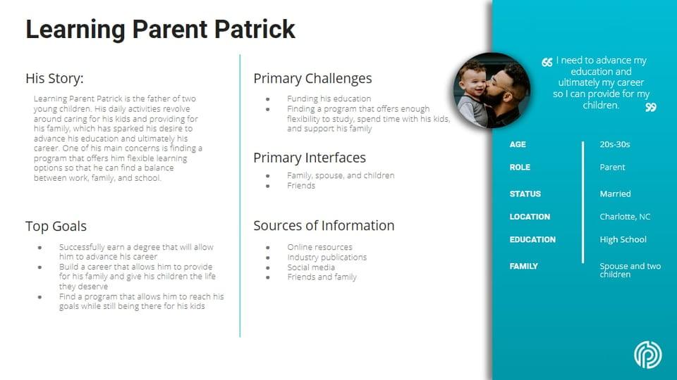 Learning Parent Patrick