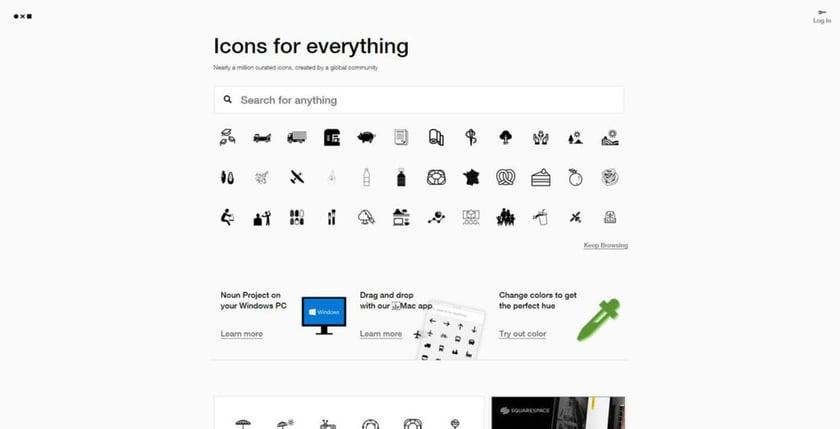 Noun Project free stock photo site