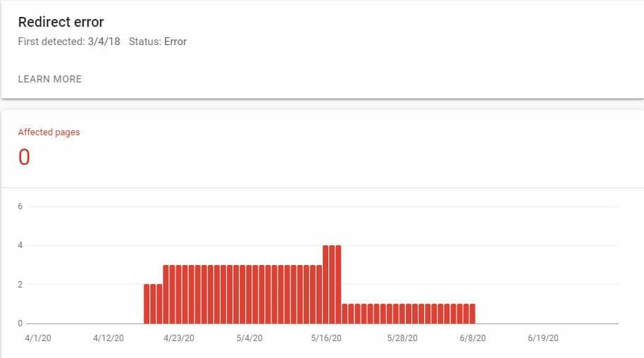 Redirect Error In Google Search Console
