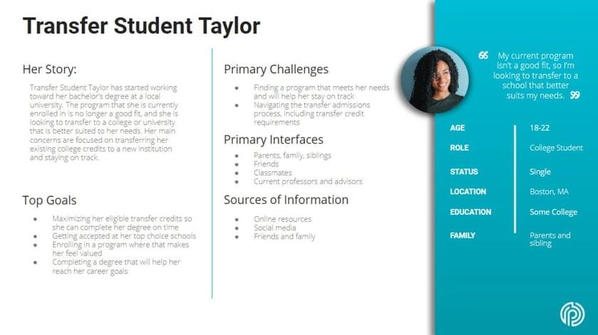 Transfer Student Taylor