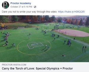 Proctor Academy social media example