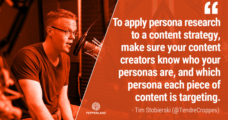 applying persona research to content strategy