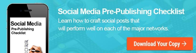 Social Media Pre-Publishing Checklist CTA