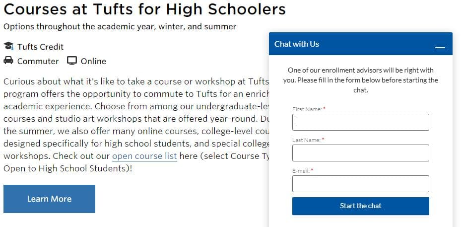 tufts-live-chat-example