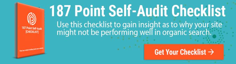 187 Point Self-Audit Checklist Bottom Third CTA